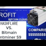 Complete comparison of Bitmain Antminer S9 mining vs Hashflare using the same pool and complexity