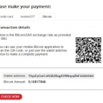 Payfast accepting bitcoin (using BitX)