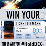 Win a TICKET TO MARS with Elon Musk! Just #HodlDCC.